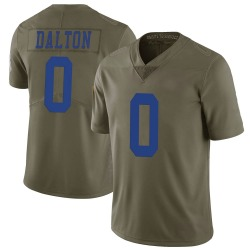 Nike Andy Dalton Dallas Cowboys Limited Green 2017 Salute to Service Jersey - Youth