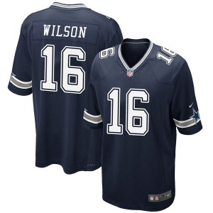 Nike Cedrick Wilson Dallas Cowboys Game Navy Team Color Jersey - Youth