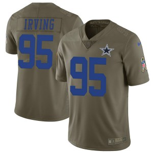 Nike David Irving Dallas Cowboys Limited Green 2017 Salute to Service Jersey - Youth