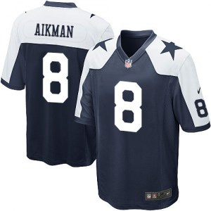 Nike Troy Aikman Dallas Cowboys Game Navy Blue Throwback Alternate Jersey - Men's
