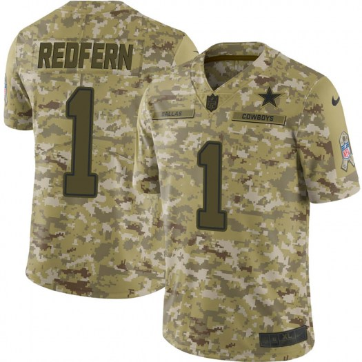 Nike Kasey Redfern Dallas Cowboys Limited Red Camo 2018 Salute to Service Jersey - Youth