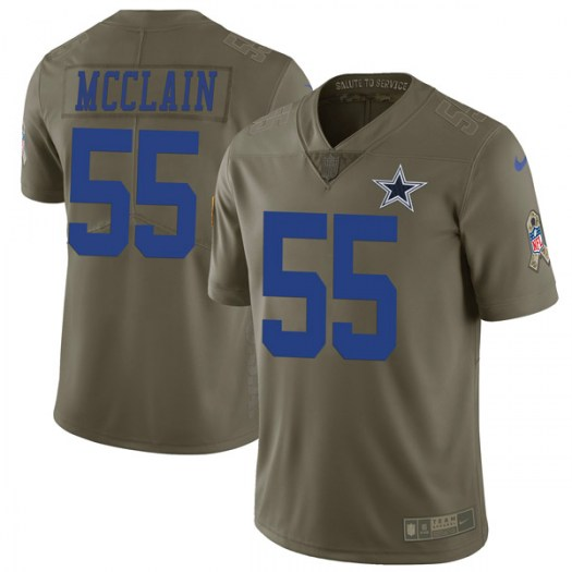 Nike Rolando McClain Dallas Cowboys Limited Green 2017 Salute to Service Jersey - Men's