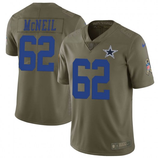 Nike Lukayus McNeil Dallas Cowboys Limited Green 2017 Salute to Service Jersey - Youth