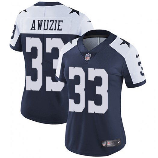 Nike Chidobe Awuzie Dallas Cowboys Limited Navy Blue Throwback Alternate Jersey - Women's