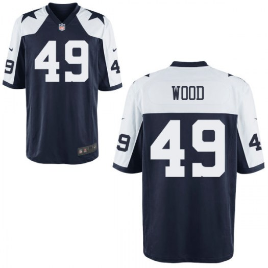 Nike Zach Wood Dallas Cowboys Game Throwback Jersey - Men's