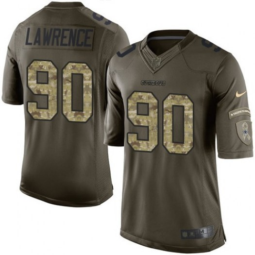 Nike Demarcus Lawrence Dallas Cowboys Elite Green Salute to Service Jersey  - Men s c06a42e78